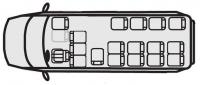 Микроавтобусы Форд Транзит 222708 (18+4+1)