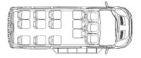 Микроавтобус Форд Транзит F22706 14 мест (350LWB)