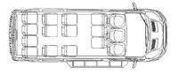 Микроавтобус Форд Транзит F22706 15 мест (350 LWB)
