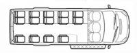 Форд Транзит автобус для детей TST41C-601 (14+2+1)