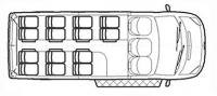 """Форд Транзит автобус """"Школа"""" TST41C-401 (14+2+1)"""