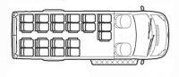Школьные автобусы Ford Transit TST41D-900 (21+1+1)
