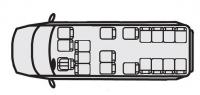 Микроавтобусы Форд Транзит 222709 (18+7+1)