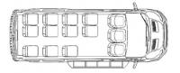 Микроавтобусы Форд Транзит F22703 13 мест 350 LWB