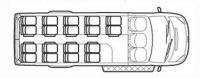 Школьный автобус Форд Транзит TST41D-801 (18+2+1)
